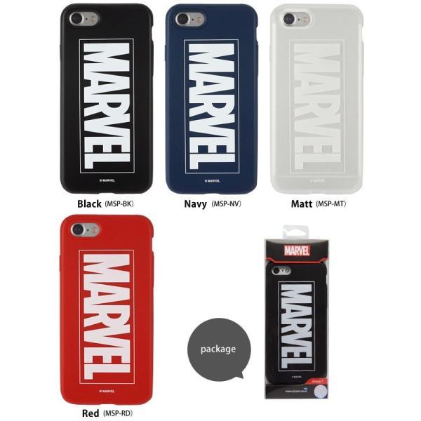 MARVEL Slim Protecter マーベルプロテクター iPhone7 iPhone8 ケース iphoneケース スマホケース カバー アメコミ マーヴェル ロゴ TPU 映画 メール便OK|sincere-inc|02