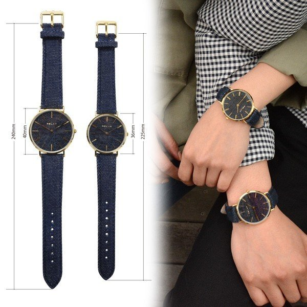 ペアウォッチ レディース メンズ  腕時計 メンズ腕時計 レディース腕時計 デニム RELAX リラックス NIMES ニーム 1本販売 カップル|sincere-inc|04
