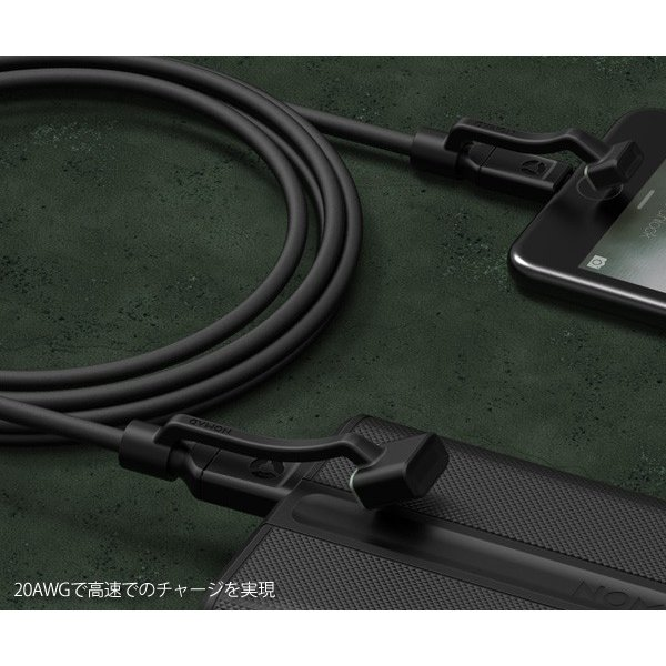 NOMAD RUGGED CABLE ノマド ラギッドケーブル 1.5m Lightningケーブル ライトニングケーブル MFi認定 iPhone iPad Mini iPad Touch メール便OK|sincere-inc|04
