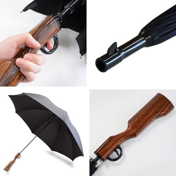 おもしろ 雑貨 ライフル 傘 かさ カサ ロング メンズ UMBRELLA ライフルアンブレラ|sincere-inc|03