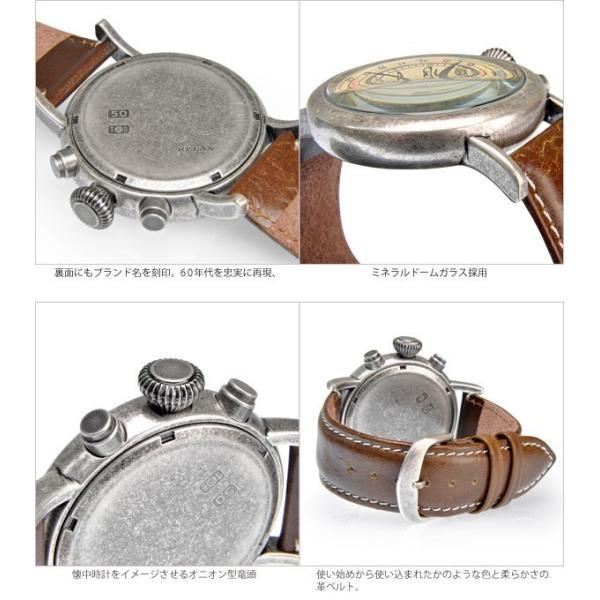 メンズ 腕時計 クロノグラフ RELAX vintage リラックスヴィンテージ 革ベルト|sincere-inc|03