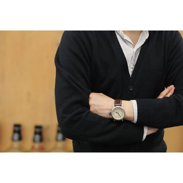 メンズ 腕時計 クロノグラフ RELAX vintage リラックスヴィンテージ 革ベルト|sincere-inc|05