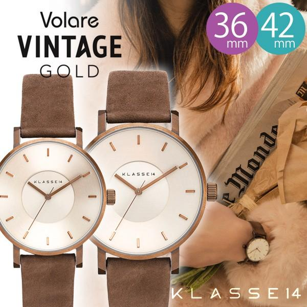 KLASSE14 クラス14 正規品 腕時計 レディース メンズ Vintage Gold Brown sincere-inc