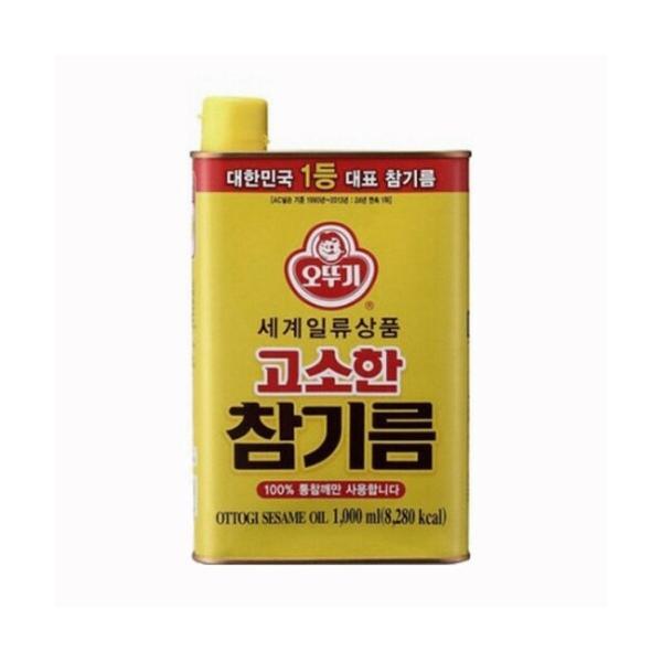 『オトギ(オットギ)』ごま油 1000ml缶★送料無料★ <韓国調味料・韓国産ごま油・ごま油>