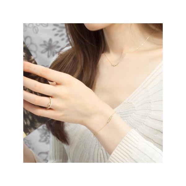 ブレスレット ダイヤモンド K18 18金 ローズカット ダイヤモンド ブレスレット  cinq-サンク-
