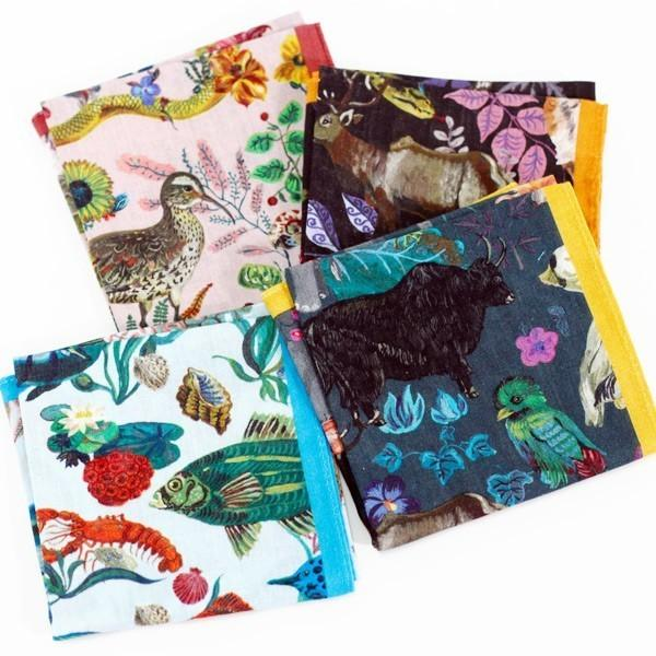 Nathalie Lete Handkerchief ナタリー・レテ ハンカチ 37.5×37.0cm