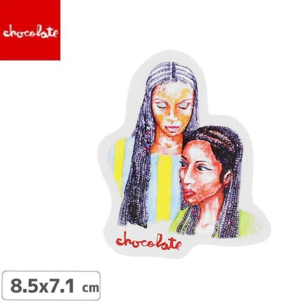 CHOCOLATE チョコレートステッカー スケボー  LOGO STICKER マルチ 8.5cm x 7.1cm NO30