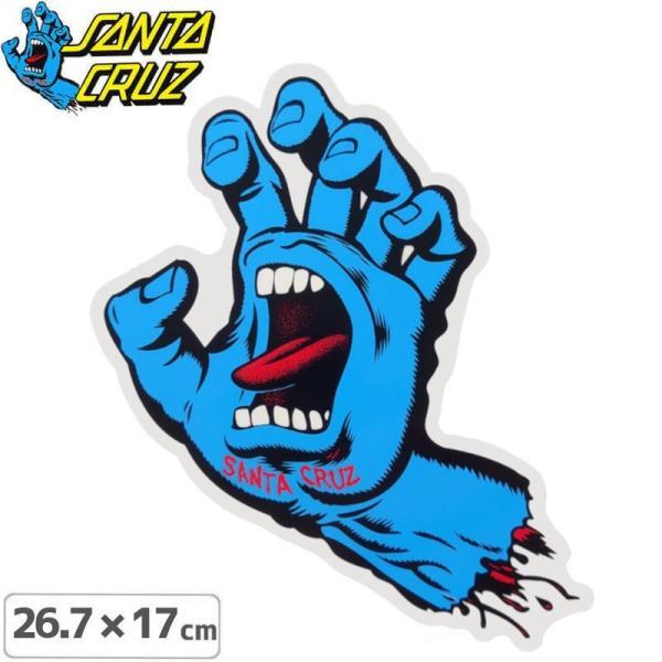 サンタクルーズ SANTACRUZ スケボー ステッカー SCREAMING HAND STICKER 26.7cmx17cm NO113