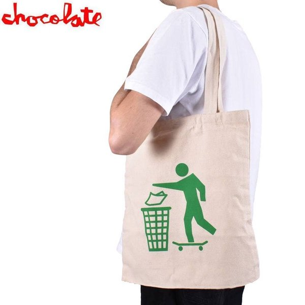 チョコレート CHOCOLATE トートバック DON'T TRASH TOTE BAG ナチュラル NO20