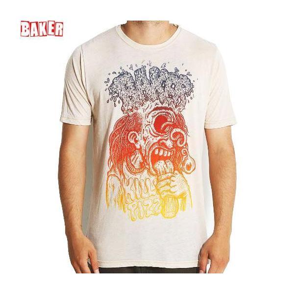 アウトレット スケボー Tシャツ ベーカーBAKER  BAKER FRYCLOPS TEE クリーム NO39