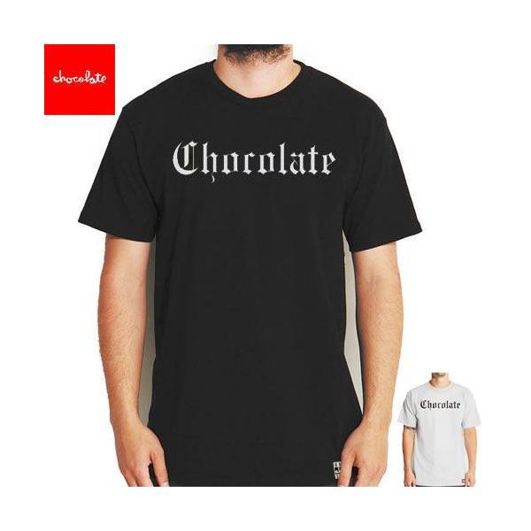アウトレット チョコレート CHOCOLATE スケートボード Tシャツ EAZY-C TEE ブラック グレー NO137
