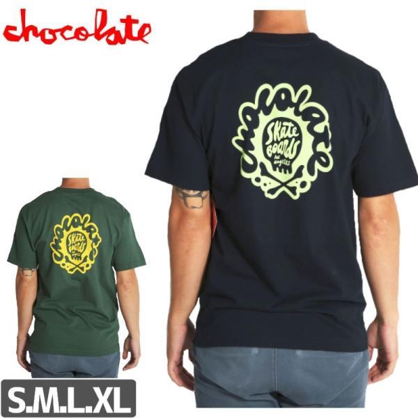 スケボー Tシャツ チョコレート CHOCOLATE  HOT SKULL TEE NO169