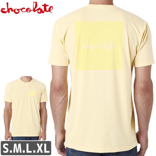 スケボー Tシャツ チョコレート スケートボード CHOCOLATE TONAL SQUARE T-SHIRT クリーム NO176