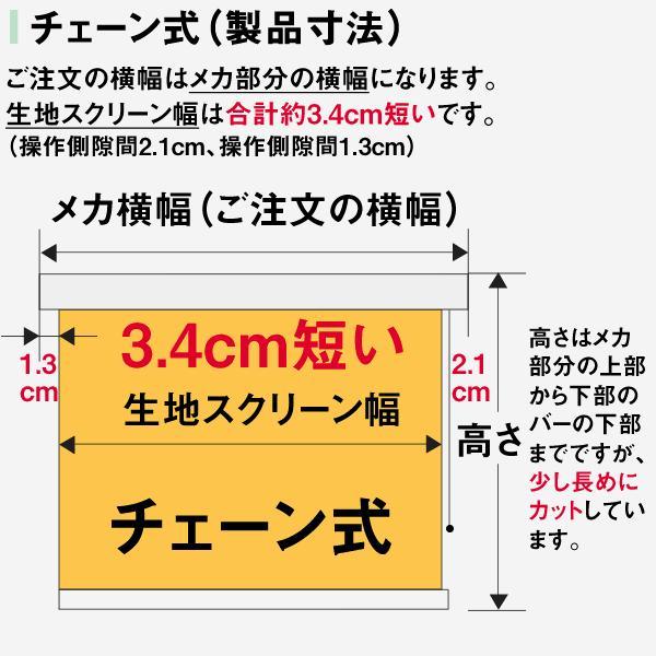 ロールスクリーン TASTE シースルー(レースカーテンのような透け感) 横幅41〜60cm × 高さ181〜200cm  オーダー メイド 立川機工製|skipskip|10