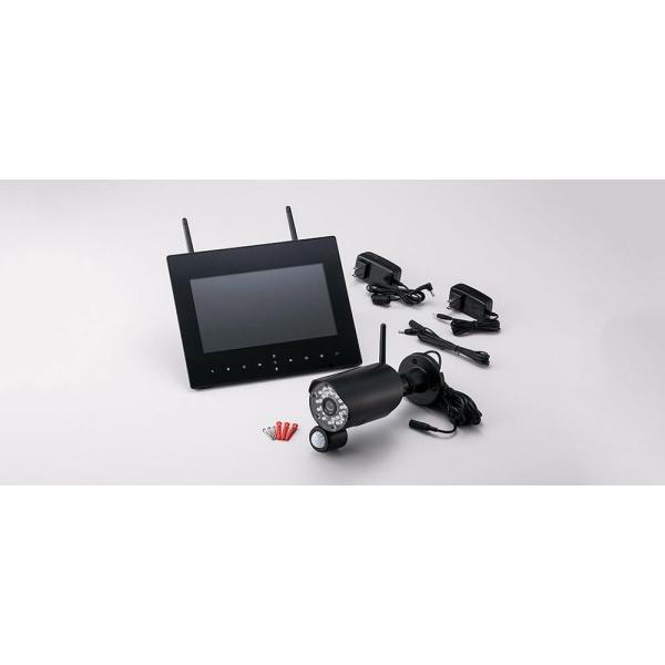 らくらくeyeアイcam NS-9015WMS 録画機能搭載9インチモニター付きワイヤレスカメラセット 防犯カメラ 監視カメラ ワイヤレス