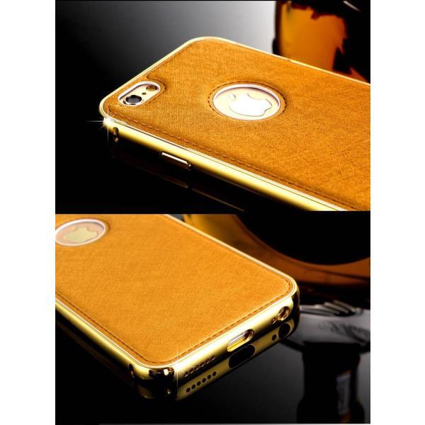 【メール便 送料無料】iphone6/iphone6Plus 24Kゴールド鍍金シルクバックケース ラグジュアリー カジュアル スマート|sky-sky|03