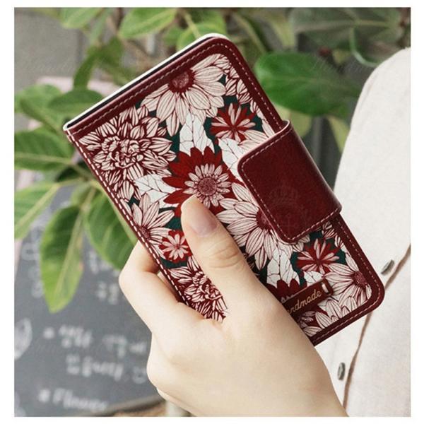 【メール便 送料無料】iPhone6s/Plus iPhone SE iPhone5 iPhone5s iPhone5c  Galaxy S6 edge Galaxy note2 note3 note4 note5 手帳型ケース  可愛い花柄|sky-sky|12