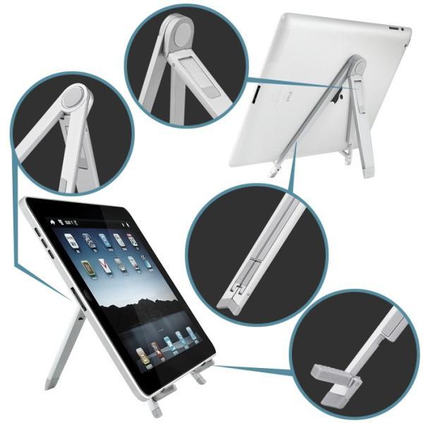 【メール便送料無料】タブレットスタンド 角度調整対応 折りたたみ式 スマホスタンド iPad Pro Nexus Xperia Z Ultra GALAXY Tab 出張 旅行 sky-sky 07
