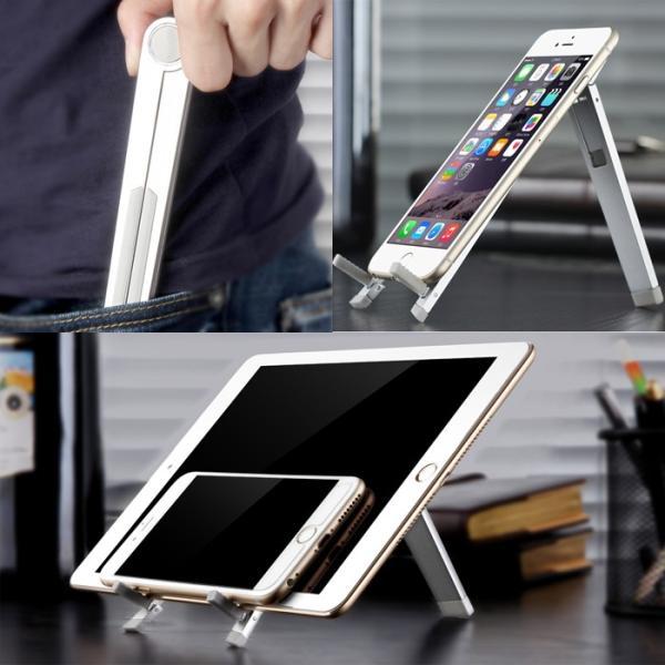 【メール便送料無料】タブレットスタンド 角度調整対応 折りたたみ式 スマホスタンド iPad Pro Nexus Xperia Z Ultra GALAXY Tab 出張 旅行 sky-sky 08