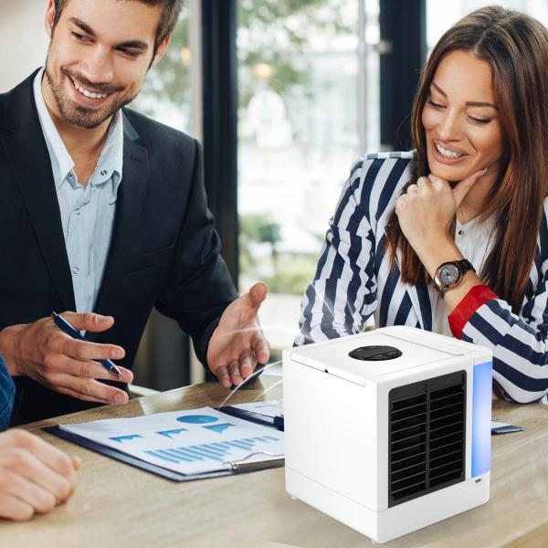 コンパクト小型クーラー ミニ 扇風機 usb 冷風機 卓上 冷風扇 エアコン ポータブル 扇風機 ファン 強風 加湿機能 冷却機能 空気清浄機能 7色LED|sky-sky|07
