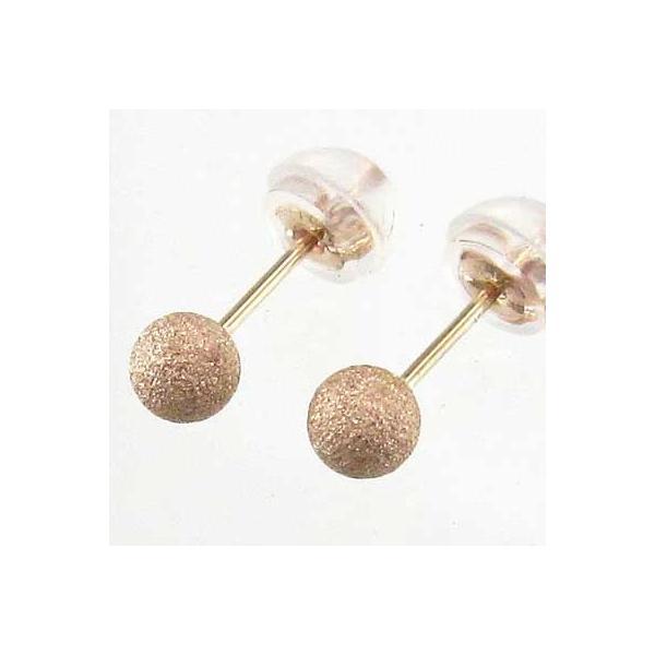 両耳 ピアス スタンダード k18ピンクゴールド 4mm珠 フラッシュボール キャッチ付 丸玉|skybell-shop
