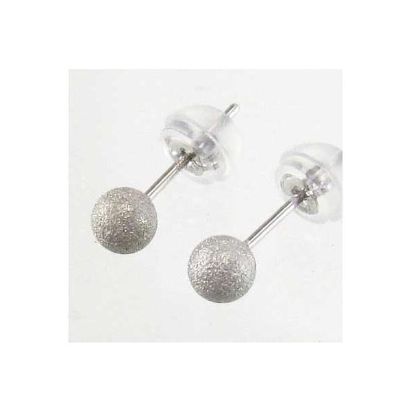 ペア ピアス プラチナ900 地金 4mm珠 フラッシュボール キャッチ付 丸玉|skybell-shop