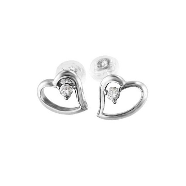 両耳 ピアス オープン ハート ダイアモンド 4月誕生石 プラチナ900 キャッチ付き|skybell-shop|04