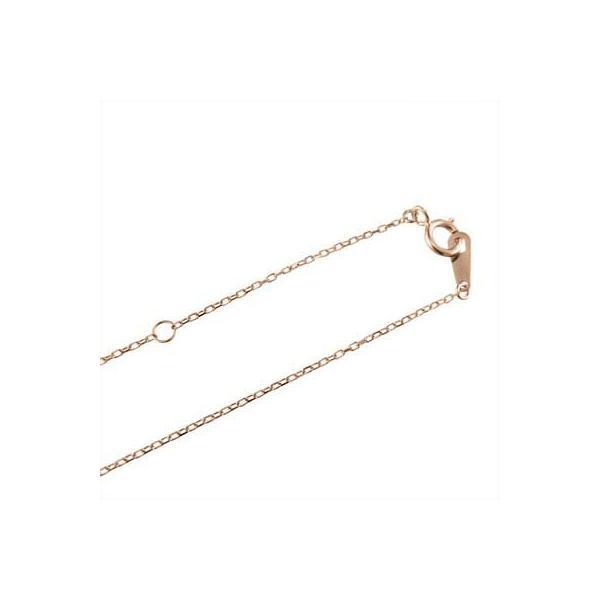 ペンダント ネックレス k18ピンクゴールド クロス 一粒石 天然ダイヤモンド 4月誕生石 skybell-shop 04