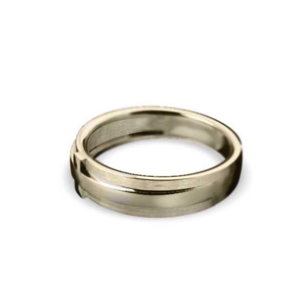 平らな指輪・地金・クロスジュエリー・k10