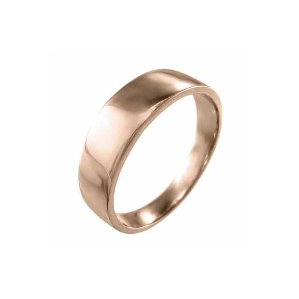 k18ピンクゴールド・平らな指輪・地金・最大約6mm幅