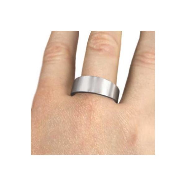 平打ちの指輪/スタンダード/k18ホワイトゴールド/最大約4mm幅