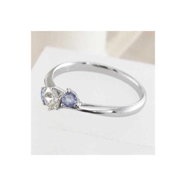 指輪・タンザナイト・天然ダイヤモンド・12月の誕生石・18金ホワイトゴールド