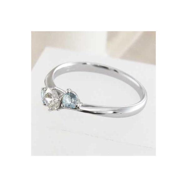 指輪・アクアマリン・天然ダイヤモンド・Pt900