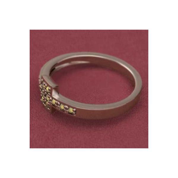 指輪・シトリン・11月誕生石・k10ピンクゴールド