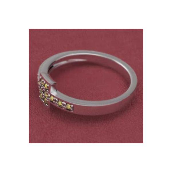 (黄水晶)シトリン・指輪・10kホワイトゴールド・11月誕生石