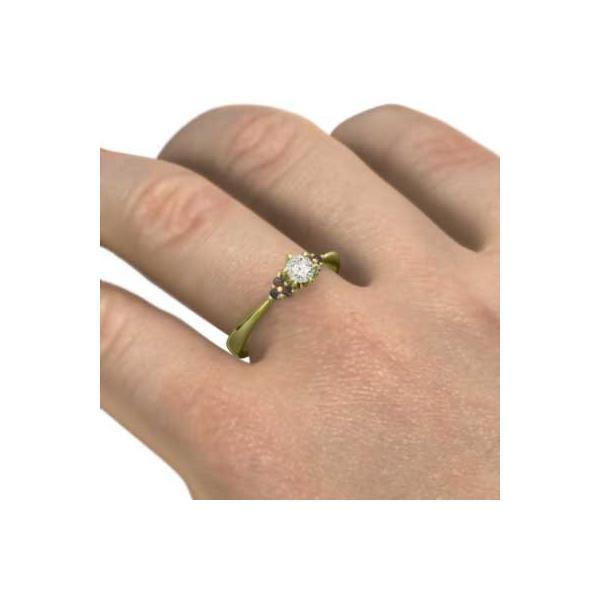 婚約指輪にも ガーネット 天然ダイヤモンド K18