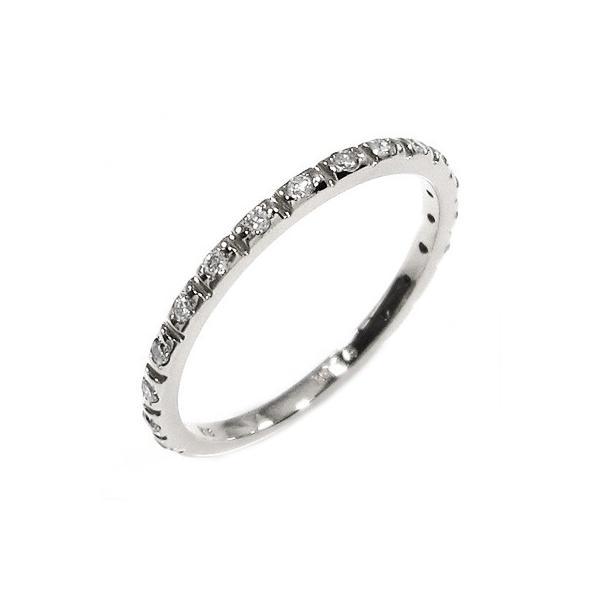 ハーフ エタニティ 指輪 k10ホワイトゴールド 天然ダイヤ 4月誕生石|skybell-shop