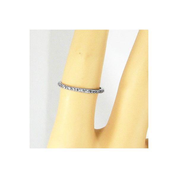ハーフ エタニティ 指輪 k10ホワイトゴールド 天然ダイヤ 4月誕生石|skybell-shop|02