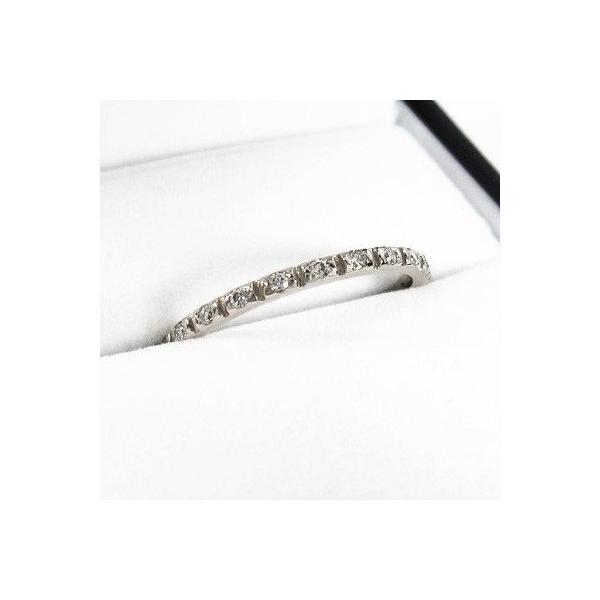 ハーフ エタニティ 指輪 k10ホワイトゴールド 天然ダイヤ 4月誕生石|skybell-shop|03