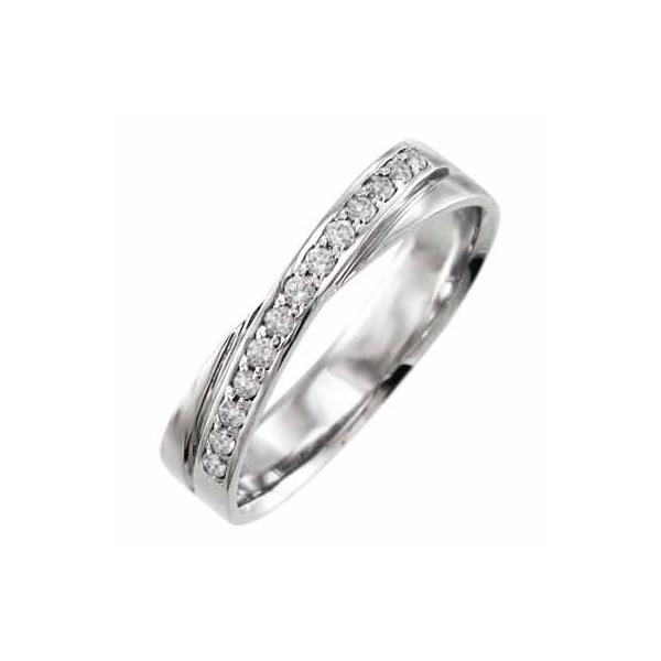ホワイトゴールドk10・指輪・4月誕生石・天然ダイヤモンド