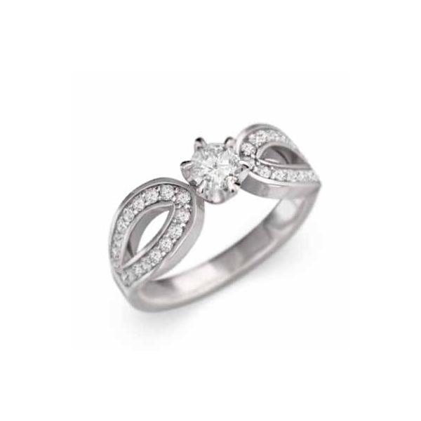 オーダーメイド婚約指輪にも 指輪 一粒石 天然ダイヤモンド Pt900