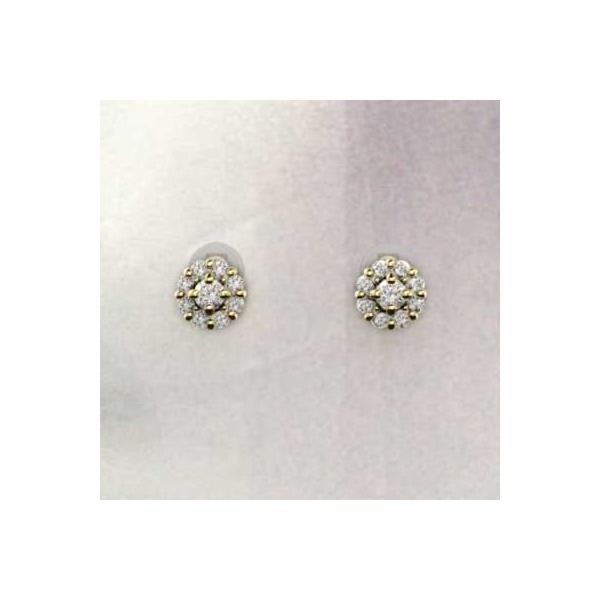 k18イエローゴールド ペアピアス 天然ダイヤモンド 4月誕生石 キャッチ付き