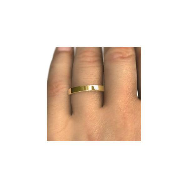 平らな指輪・地金・10kイエローゴールド・約2.6mm幅