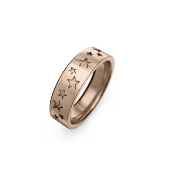 平打リング スター(星) シンプル k18ピンクゴールド 幅