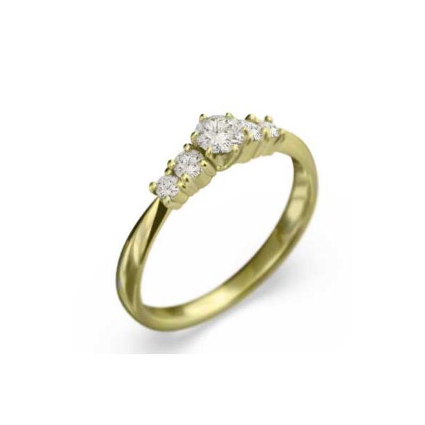 イエローゴールドk18・リング・天然ダイヤモンド