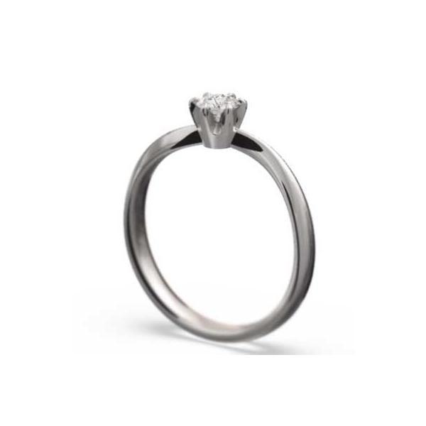 エンゲージリング 1粒石 ダイヤモンド プラチナ900 4月誕生石