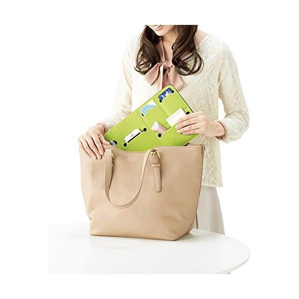 デジタル小物 PC機器 タブレットPC スマホ 収納ケース フラットなバッグインバッグ 鞄の中を整理整頓 【ブルー グリーン 2色セット】|skygarden|04