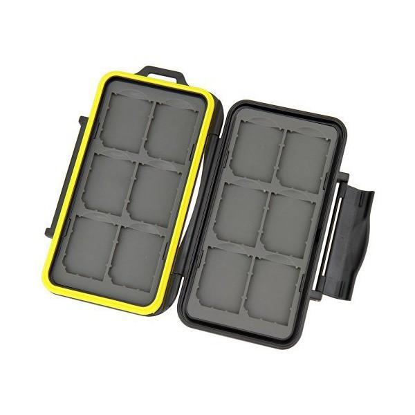 (カップテン)Kupton SDカード収納ケース 12枚収納可能 カード収納ケース メモリーカードケース SDカード収納用 保護ボックス 両面収納タ