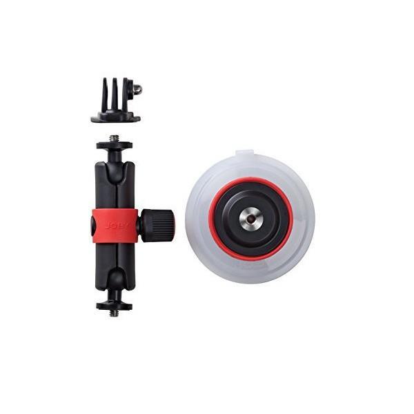JOBY GoPro HERO5対応アクセサリ サクションカップ&ロッキングアーム ブラック/レッド 013301【国内正規品】