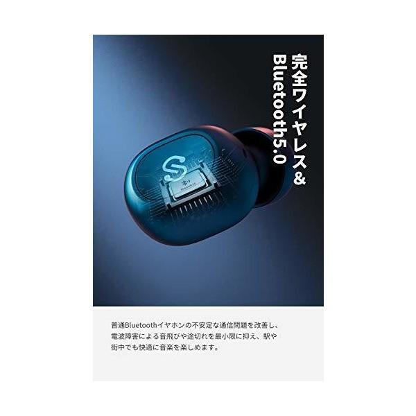 SoundPEATS(サウンドピーツ) TrueFree+ ワイヤレスイヤホン Bluetooth 5.0 完全ワイヤレス イヤホン AAC対応 3 skygarden 02